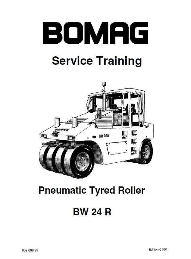 Bomag BW 24 R Pneumatic Tyred Roller Service Training PDF