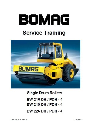 Bomag BW216 219 226 DH  PDH4 Service Training PDF