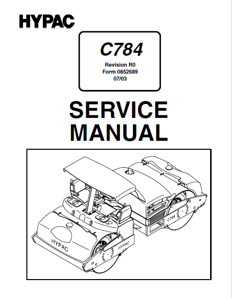 Bomag / Hypac C784 PDF Service Manual Download