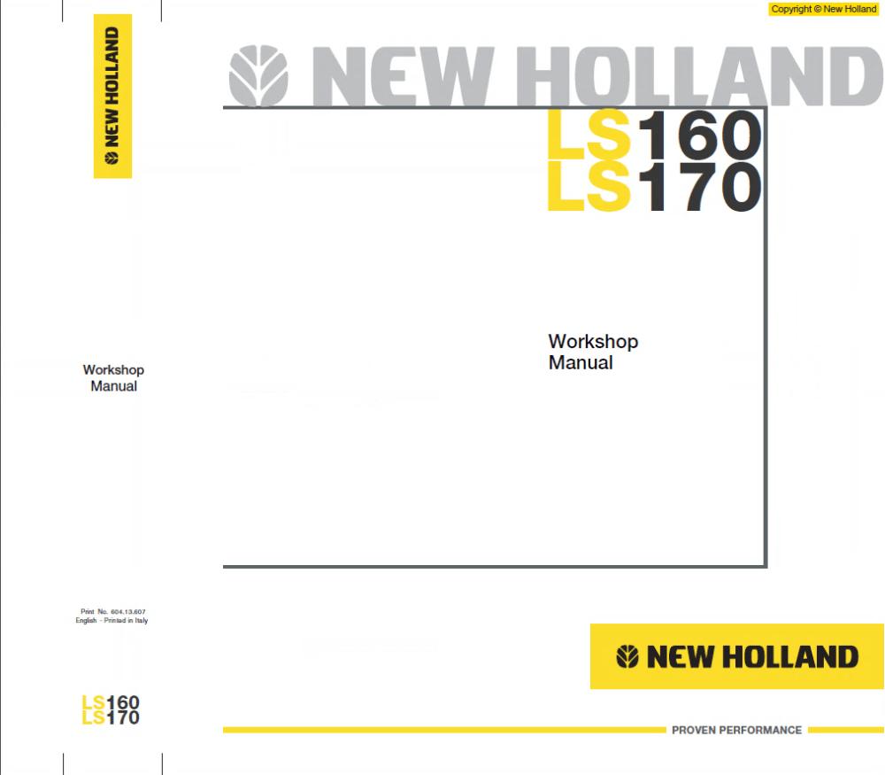 medium resolution of new holland ls160 ls170 skid steer loader pdf manual wiring diagrams ls170 new holland skid steer