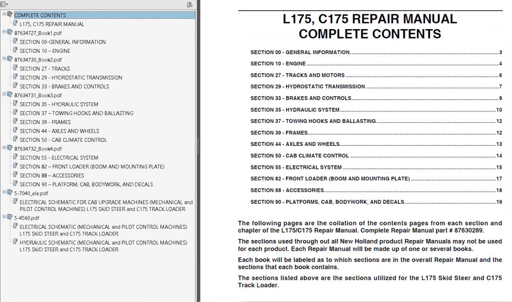 medium resolution of repair manual new holland l175 c175 skid steer and track loaders repair manual pdf