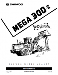 Daewoo Wheel Loader Mega 300-III Complete Shop Manual PDF
