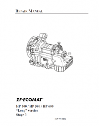 ZF Ecomat Transmission HP 500/HP590/HP600 Long Version