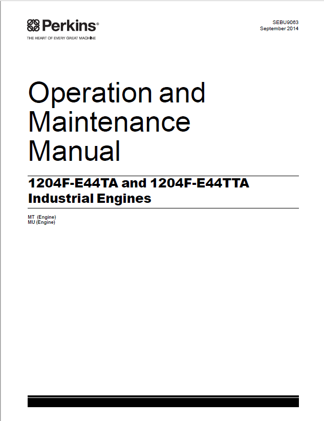 Download Perkins Engine 1204F Series Operation Maintenance
