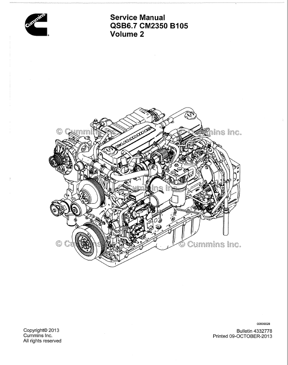 Download Cummins Engine QSB6.7 CM2350 B105 Service Manual PDF