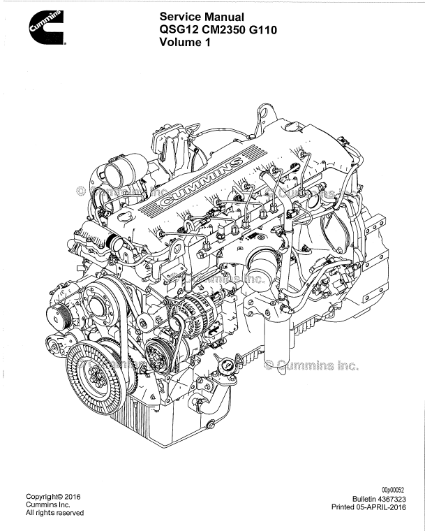 Download Cummins Engine QSG12 CM2350 G110 Service Manual PDF