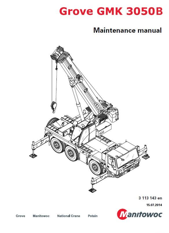 Download Grove Truck Crane GMK 3050B Maintenance PDF