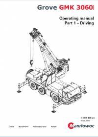 Grove Truck Crane GMK 3060i Operating Manual Driving PDF