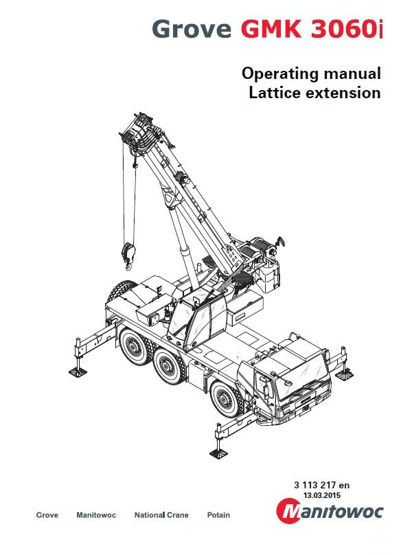 Grove Truck Crane GMK 3060i Operating Manual PDF