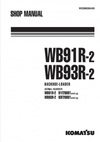 Komatsu Backhoe Loader WB91R-2, WB93R-2 Manual PDF