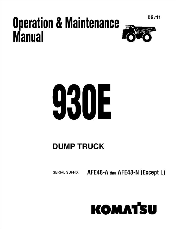 Komatsu Dump Tuck 930E Manual Download
