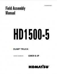 Komatsu Dump Truck HD1500-5 Field Assembly Manual