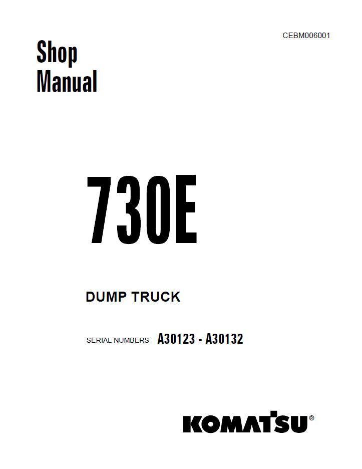 Komatsu Dump Truck 730E Set of Shop Manuals Download