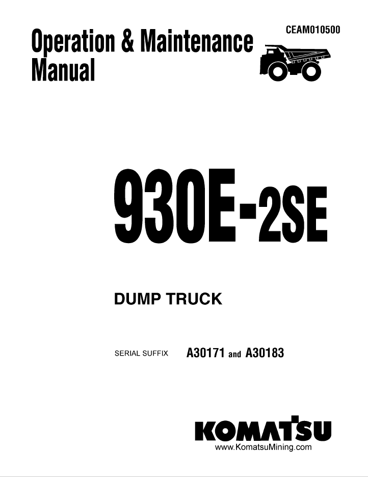 Komatsu Dump Truck 930E-2SE Manual PDF Download