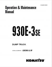 Komatsu Dump Truck 930E-3SE Manual PDF Download