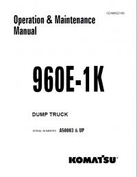 Komatsu Dump Truck 960E-1K Manual Download