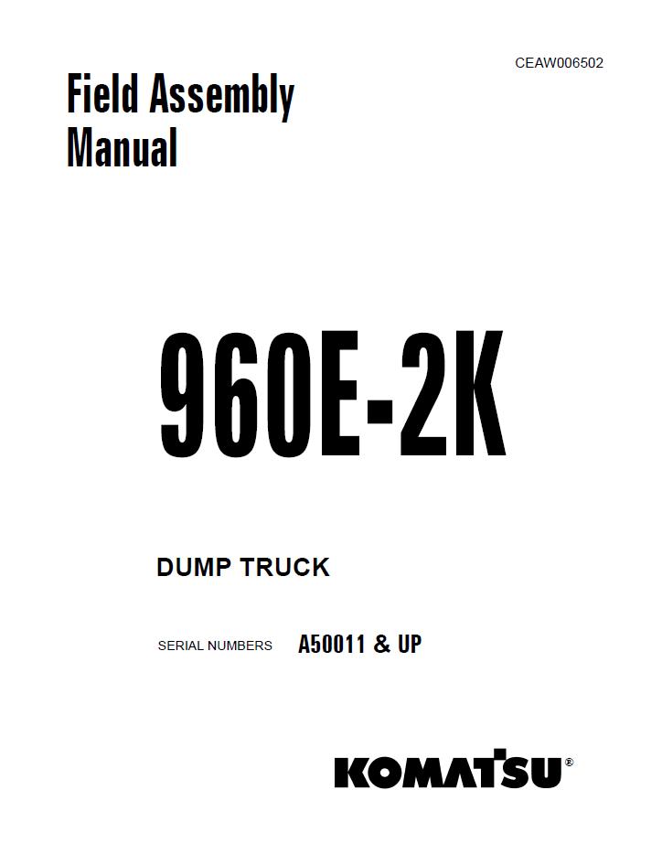 Komatsu Dump Truck 960E-2K Manual Download