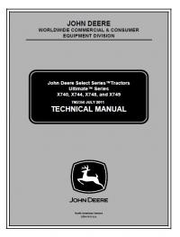 John Deere X740-X749 Tractors Ultimate Series TM2350 PDF