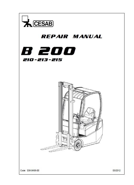 Download Cesab Forklifts B210-213-215 Repair Manual PDF