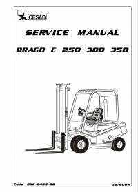 Download Cesab Forklifts Drago 250 300 350 E Service Manual