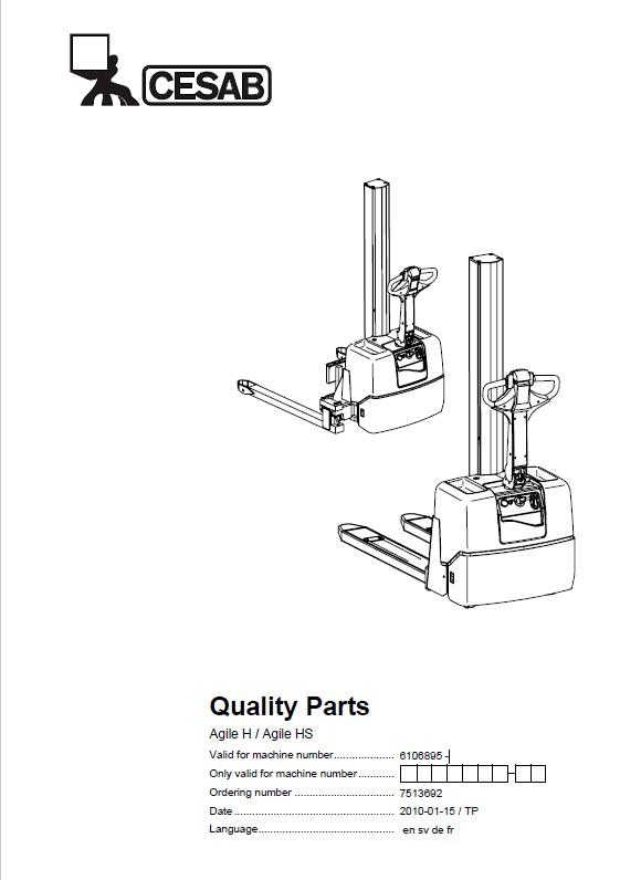 Download Cesab Warehouse Agile H/HS Quality Parts Manual