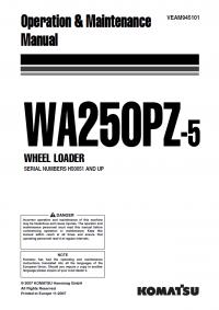 Komatsu WA250PZ-5 Wheel Loader Manual PDF Download