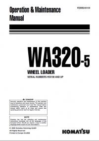 Komatsu Wheel Loader WA320-5 Manual PDF Download