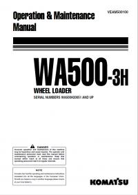 Komatsu Wheel Loader WA500-3H Manual PDF Download