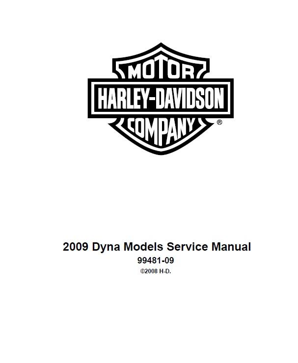 Download Harley Davidson Dyna 2009 Service Manual PDF