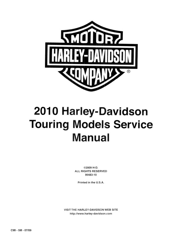 Download Harley Davidson Touring 2010 Service Manual PDF