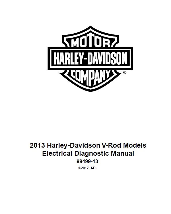 Harley Davidson V-Rod 2013 EDM And Service Manuals PDF