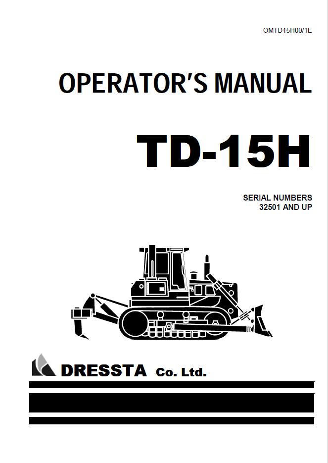 Komatsu TD-15H Bulldozers Operations Manual Download