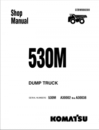 Komatsu Dump Truck 530M Shop Manual PDF Download