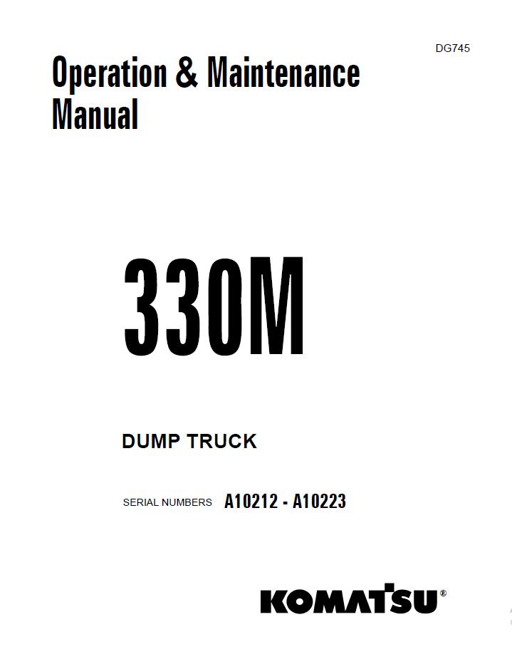 Komatsu Dump Truck 330M Set of Manuals PDF Download