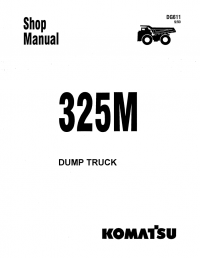 Komatsu Dump Truck 325M Shop Manual PDF Download