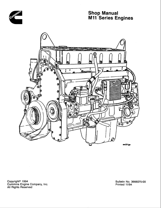 Cummins Engine SM11 Series Shop Manual Download