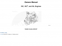 Cummins ISC, ISCe, and ISL Engines Owners Manual