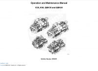 Cummins K38, K50, QSK38, QSK50 Engine Operation Manual