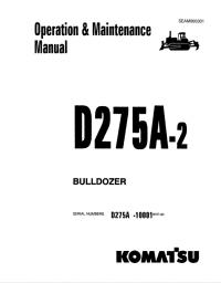 Komatsu Bulldozer D275A-2 Set of Operation Manuals PDF