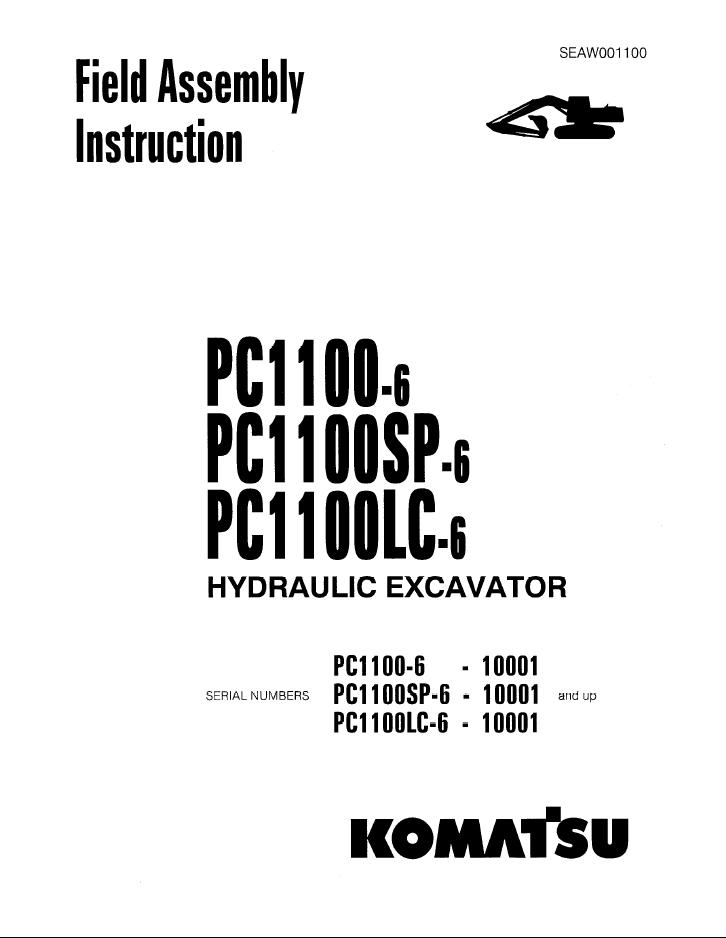 Komatsu Excavator PC1100-6, PC1100SP-6, PC1100LC-6
