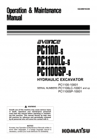 Komatsu Hydraulic Excavator PC1100-6/SP-6/LC-6 Manuals