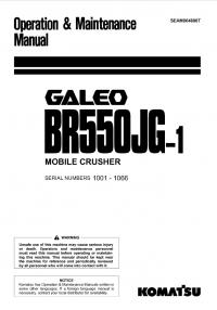Komatsu BR550JG-1 Machine Crusher Set of Manuals PDF