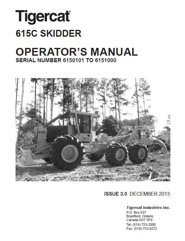 Download Tigercat Skidder 615C Operator's Manual PDF