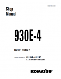 Komatsu Dump Truck 930E-4 Shop Manual PDF Download