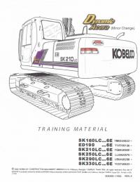 Kobelco Excavators ED190/SK160LC-330LC 6E PDF Training