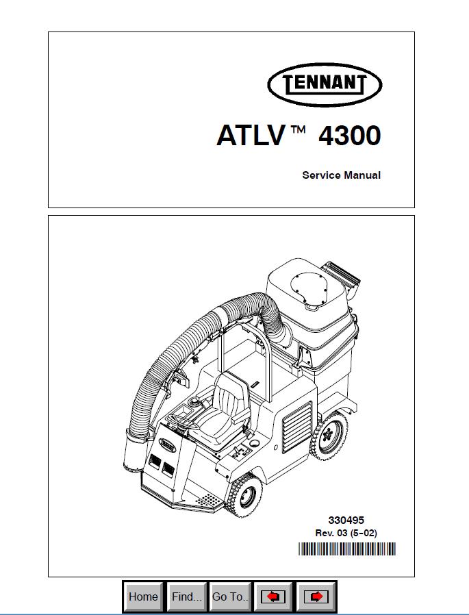 Tennant ATLV-4300 Machine PDF Service Manual