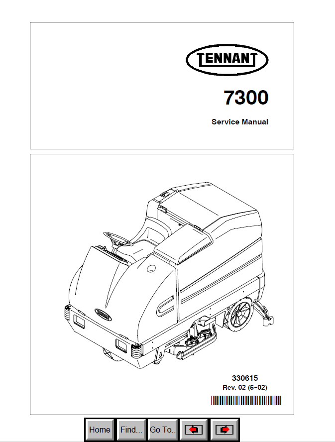 Tennant 7300 Download PDF Service Manual