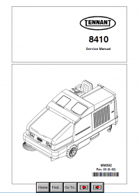 Tennant 8410 Machine Download PDF Service Manual