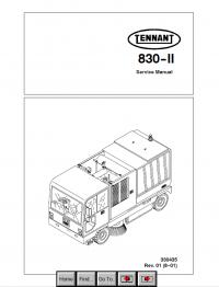 Tennant 830-II Sweeper PDF Service Manual