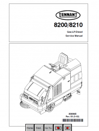 Tennant 8200/8210 Gas/LP/Diesel PDF Service Manual